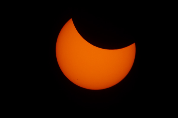 Start of the Eclipse Over Boulder