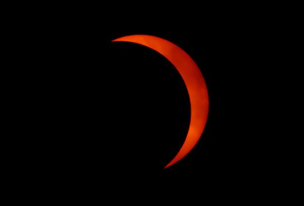 Mostly Eclipsed Sun over Boulder