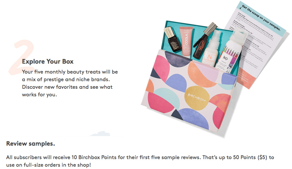 Birchbox REwards Points Example