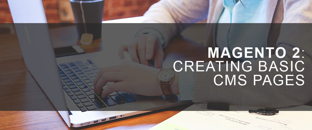 Magento 2: Creating Basic CMS Pages