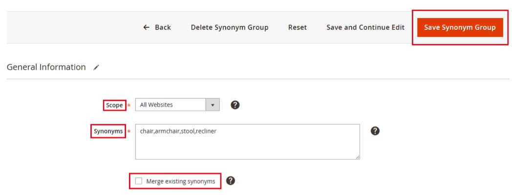 Save Synonym Group