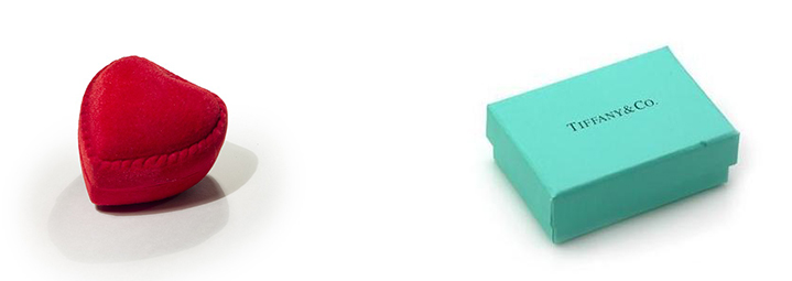 Generic Ring Box and Tiffany's Ring Box Comparrison