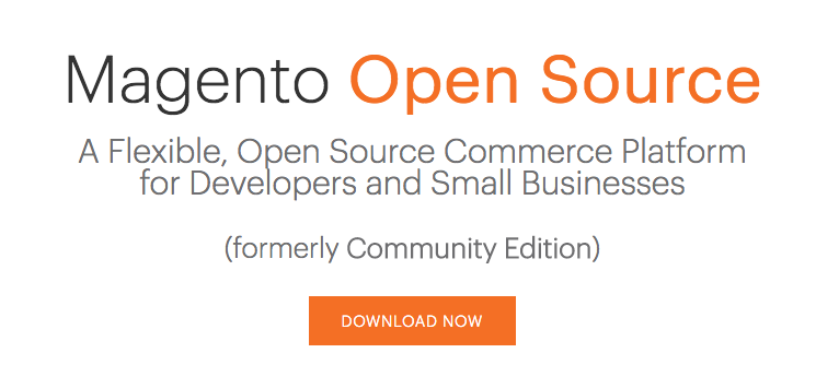 Magento Open Source Website Page