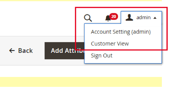Admin to view front end