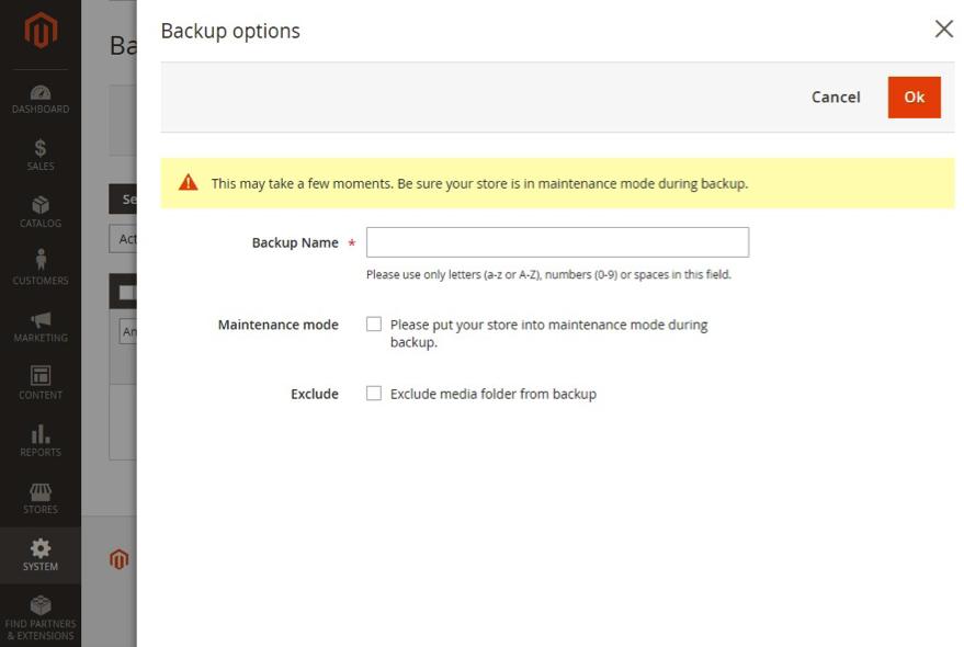Magento 2 Backup Options