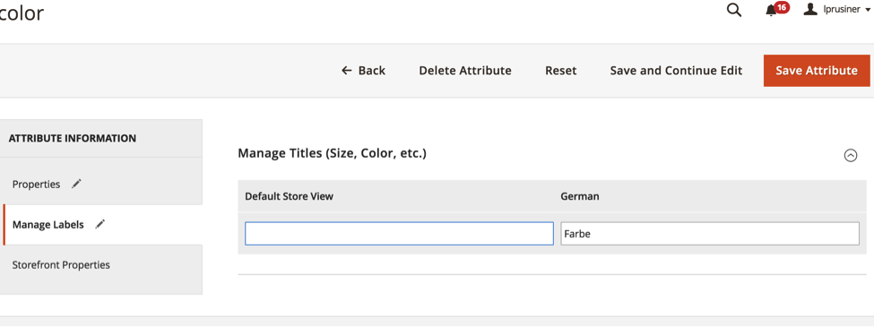 Translating Attributes Manually in Magento 2