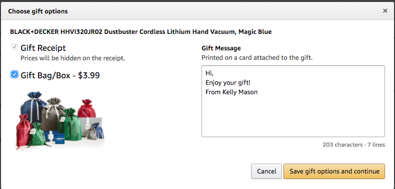 Amazon allows for sending packages right to the gift recipeint