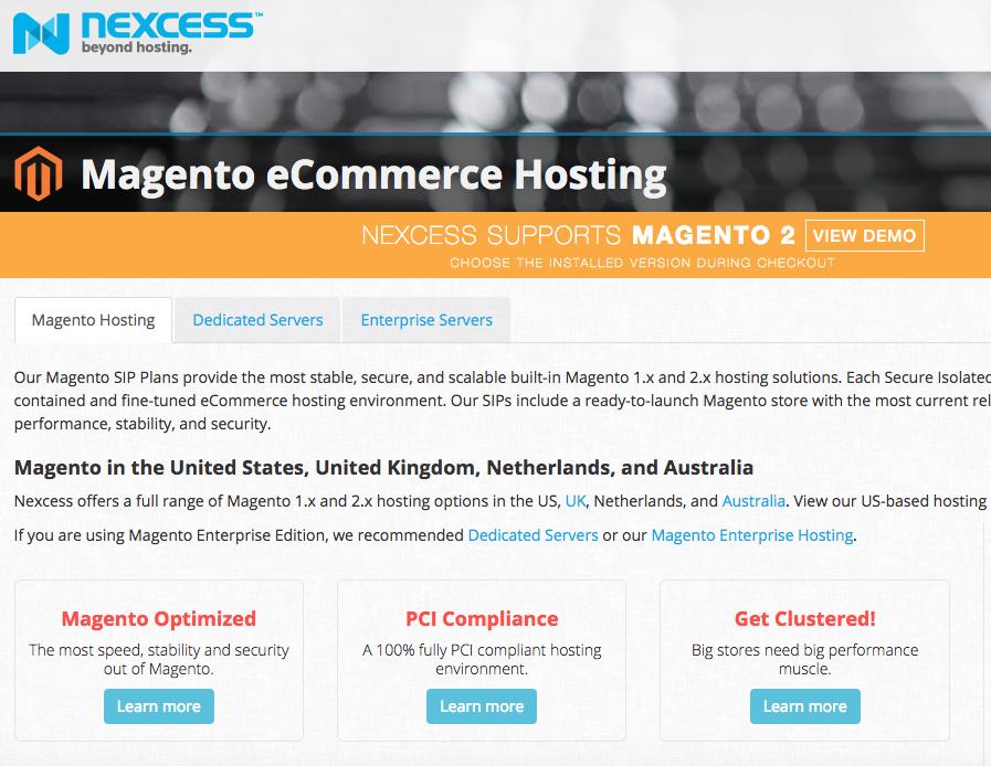 Nexcess Magento Hosting