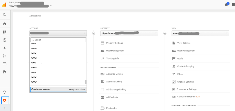 google analytics how to create a tracking id