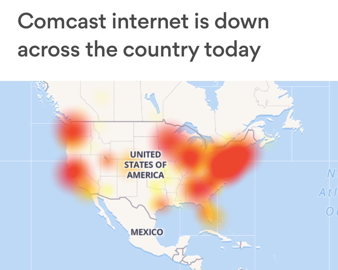Level 6's Internet Outage Map From November 6th 2017