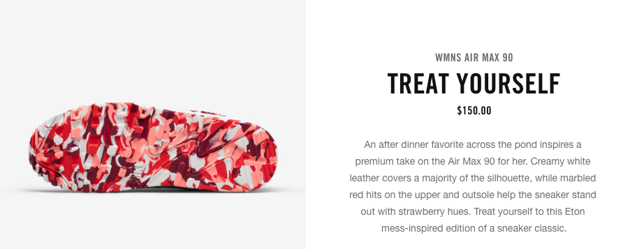 Nike Embraces Treat Yourself Message