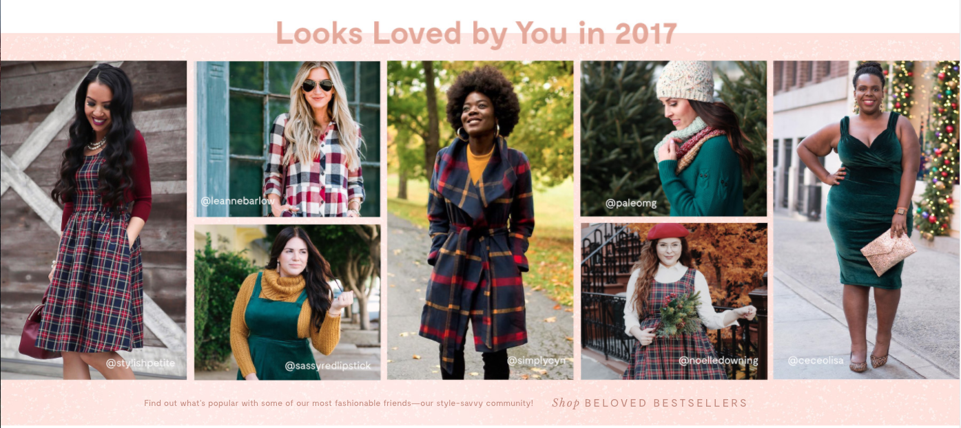 ModCloth uses User Generated Content in Their Marketing