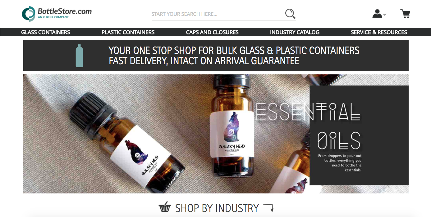 Bottle Store, an O.Berk Company Magento 2 Launch Homepage