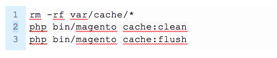 Flush your Cache Through the Command Line