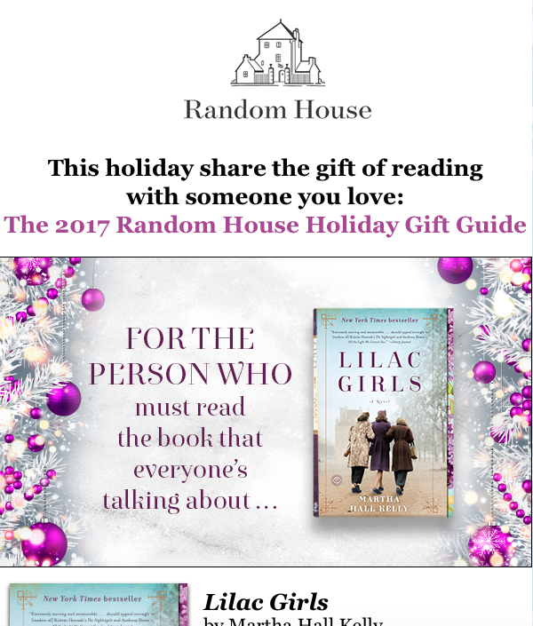 a gift guide sent through an email marketing blast
