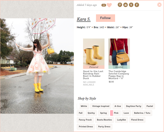 Modcloth user engagement example