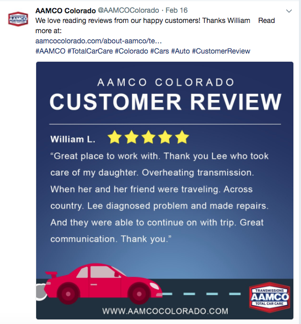 customer review social media post