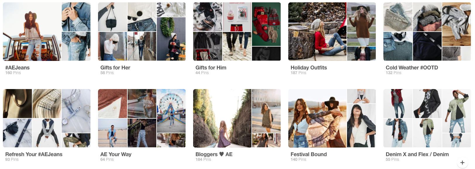 American Eagle Themed Pinterest Boards