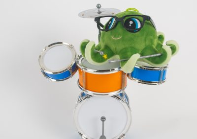 Mini drum set for green octopus
