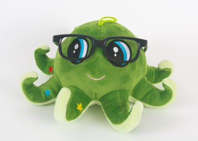 Green Octopus with glasses