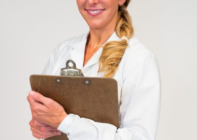 White lab coat product photo