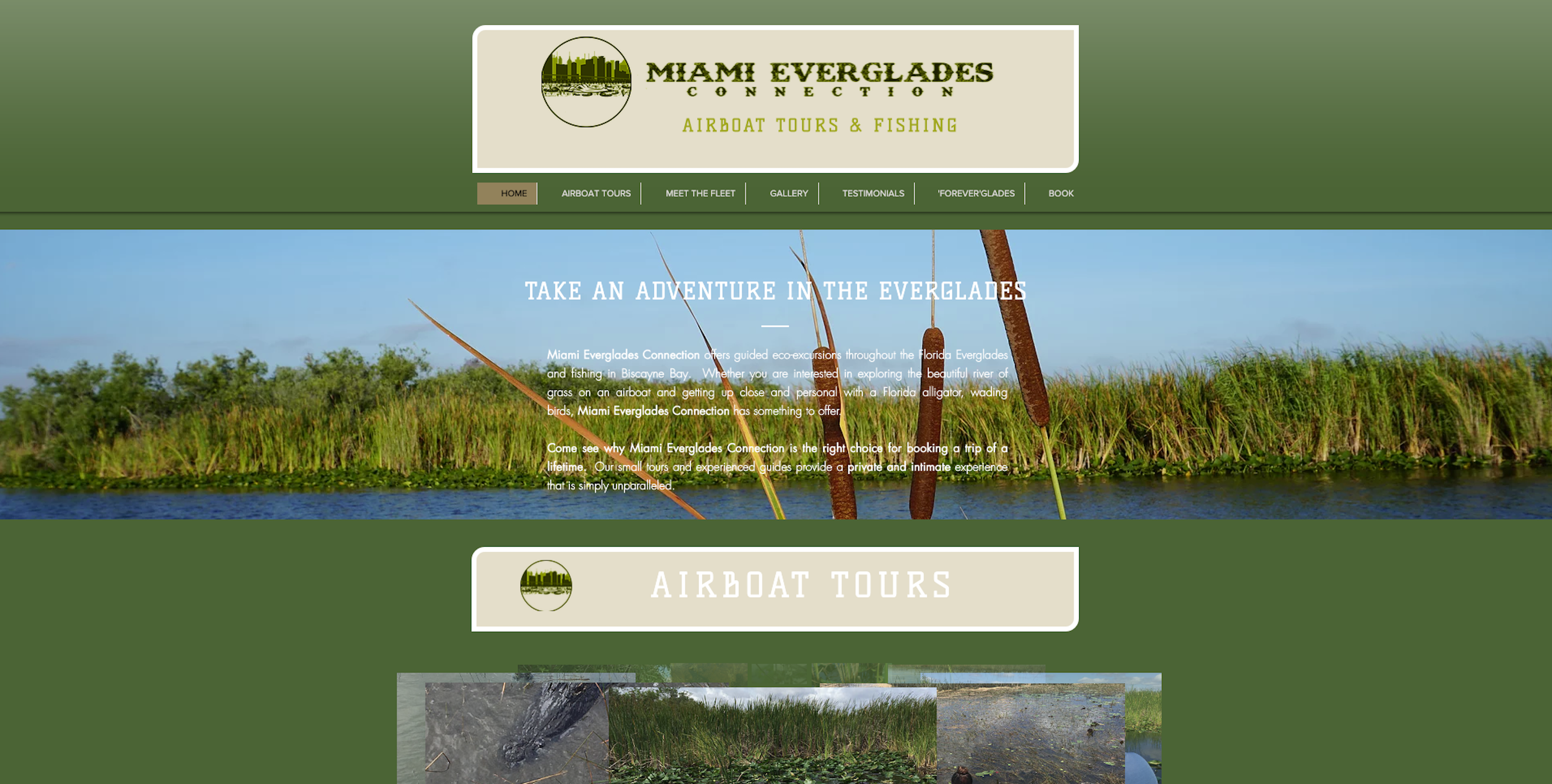 Before Miami Everglades Connection Homepage