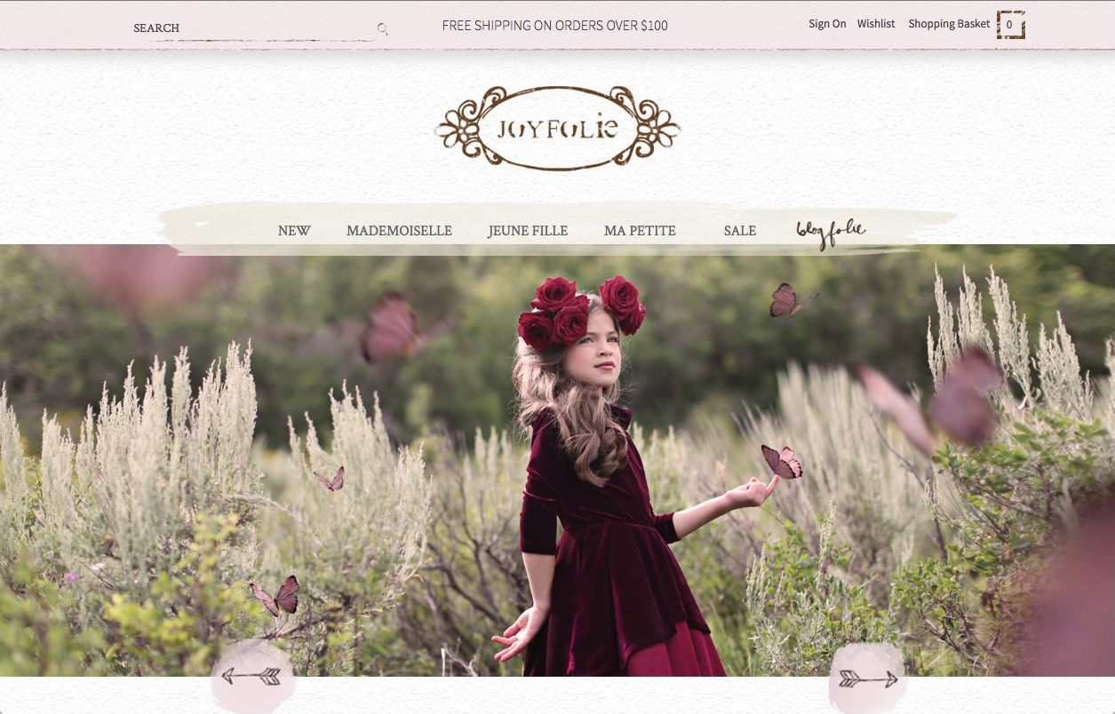 image of Joyfolie Magento Client E-Commerce Webiste